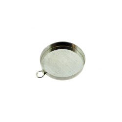 Sterling Silver 925 Round Bezel Cup with the ring 10mm