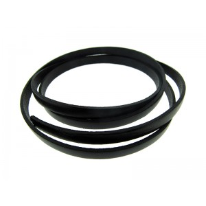 Flat Leather Thong 2mm x 7mm Black