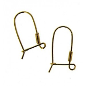 Gold Filled Ear Wires with the spring and ring, wire 0.68mm Gold Filled Ear Wires