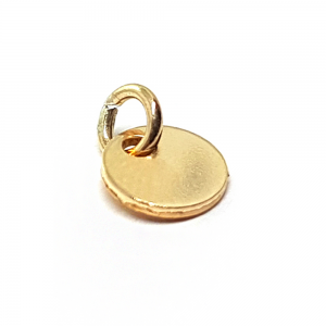 14K YELLOW GOLD FILLED 6MM BLANK DISK W/RING 8 X 6 X 0.65MM