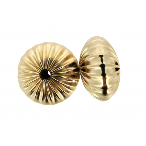 Gold Filled Flat Corrugated Rondelle Bead 12mm