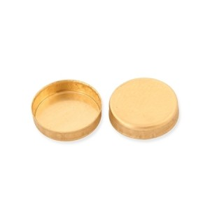 18K Yellow Gold Round Bezel Cup 3mm
