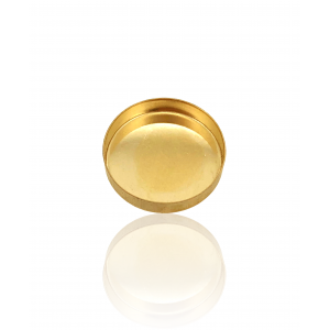 9K Yellow Gold Round Bezel Cup 10mm
