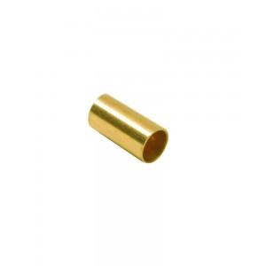 Gold Filled Yellow Cut Tube 10mm, external diameter 3mm, wall 0.3mm