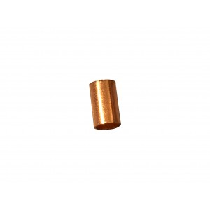 Gold Filled Red Cut Tube 5mm, external diameter 3mm, wall 0.3mm