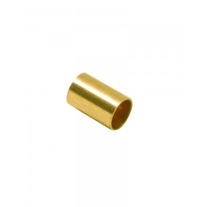 Gold Filled Yellow Cut Tube 10mm, external diameter 4mm, wall 0.3mm