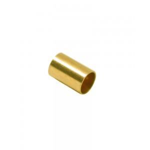 Gold Filled Yellow Cut Tube 10mm, external diameter 4mm, wall 0.3mm