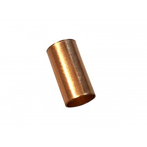Gold Filled Red Cut Tube 10mm, external diameter 5mm, wall 0.3mm