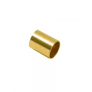 Gold Filled Yellow Cut Tube 10mm, external diameter 6mm, wall 0.3mm