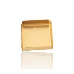 Gold Filled Square Bezel Cup 10mm