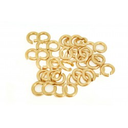 PACK OF, 12K G.F YELLOW JUMP RINGS  (0.7 mm/3.4 mm ext)