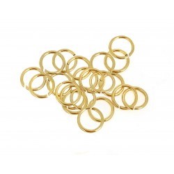 PACK OF 12K G.F YELLOW JUMP RINGS  (0.8 mm/5.6 mm ext)