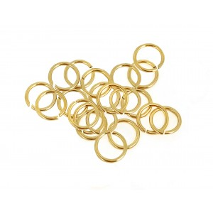 PACK OF 20, 12K G.F YELLOW JUMP RINGS  (0.7 mm/5.4 mm ext)