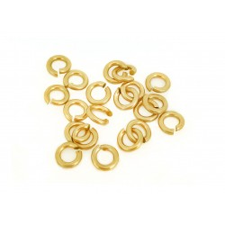PACK OF, 12K G.F YELLOW JUMP RINGS  (1.0 mm/4.0 mm ext)