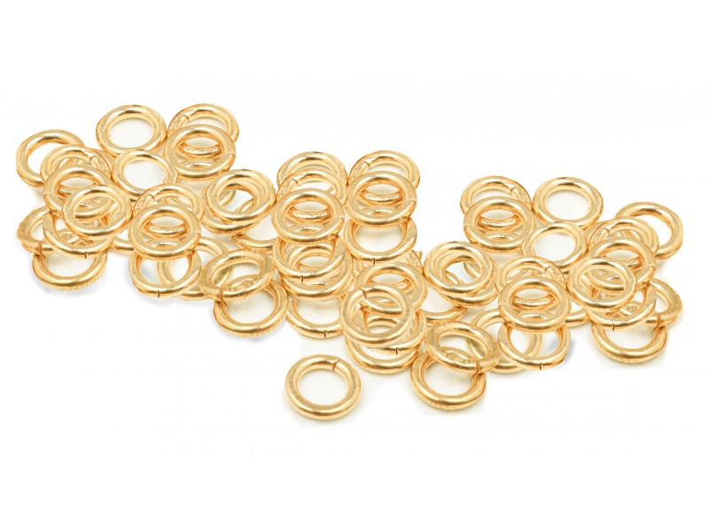 12K G.F YELLOW JUMP RINGS  (1.0 mm/5.0 mm ext)