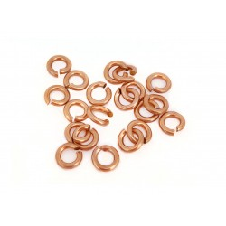 PACK OF 12K G.F RED JUMP RINGS  (0.9 mm/3.8 mm ext)