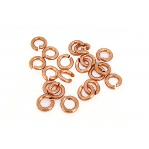 PACK OF 20, 12K G.F RED JUMP RINGS  (0.9 mm/3.8 mm ext)