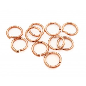 PACK OF 12K G.F RED JUMP RINGS  (1.0 mm /10.0 mm ext)