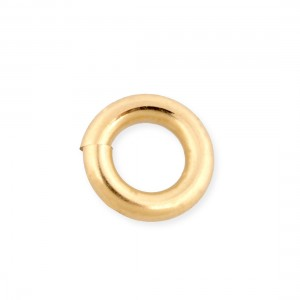 Brass Gold Plated Open Jump Rings 1mm x 5.5mm, pack 10pc