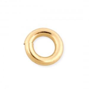 9K Yellow Gold Heavy Weight Open Jump Ring external D 4mm wire 1mm