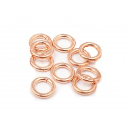 PACK OF 12K G.F RED JUMP RINGS (5 mm/1 mm ext)