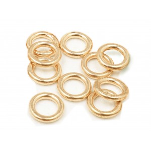 PACK OF 12K G.F YELLOW SOLDERED JUMP RINGS  (1.2 mm/8.7 mm ext)