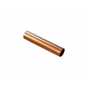 Gold Filled Red Cut Tube 15mm, external diameter 3mm, wall 0.3mm