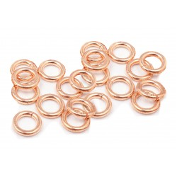 PACK OF 12K G.F RED JUMP RINGS  (0.8 mm/5.0 mm ext)