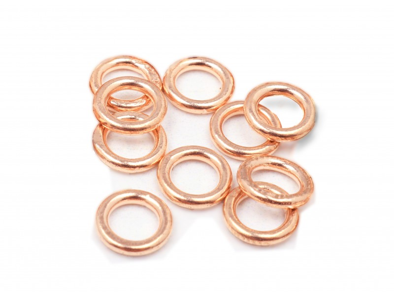 RED GOLD FILLED SOLDERED JUMPRING 0.9X4.3MM (O/DIA) PACK OF 10PC