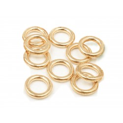 PACK OF 12K G.F YELLOW SOLDERED JUMP RINGS (1.0 mm /7.0 mm ext)