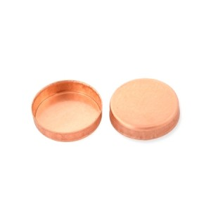 RED GOLD FILLED ROUND BEZEL CUP 14MM