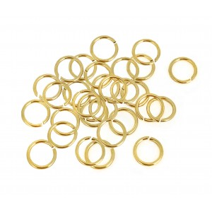 12K GF YELLOW JUMP RINGS  0.6/5.2 (ext)  [4.0mm int.]