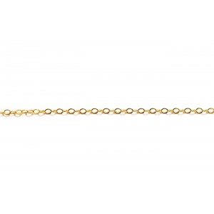 Gold Filled Fine Flat Oval Cable Chain, 1.7 x 2.3 mm