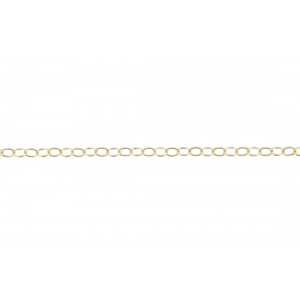 Gold Filled Rolo Cable Oval Chain, 3.1x 2 mm, 0.3 mm wire