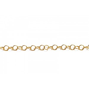 Gold Filled Round Wire Links Cable Chain, 3.5 mm