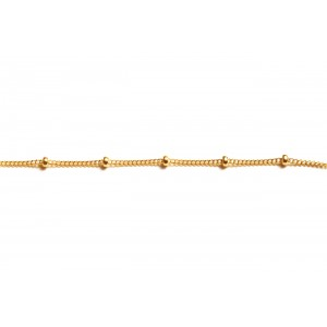 Gold Filled Satellite Chain (Curb and Ball)