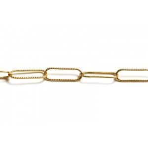 Gold Filled Textured Oval Link Chain, 5.1 x 16 mm, 0.8 mm wire Gold Filled Fancy Chain