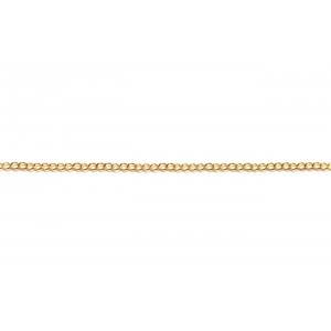 Gold Filled Fine Open Curb Chain, 1.5 x 2 mm, 0.3 mm wire
