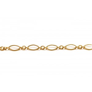 Gold Filled Fancy Oval and Round Links Chain Gold Filled Fancy Chain