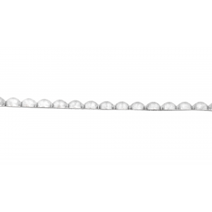 Silver 935 Half Round Pearl wire 2.50mm
