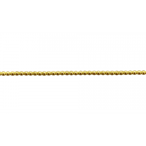 Brass Pearl Wire 1.00mm BRASS RIBBON, FANCY GALLERY WIRE