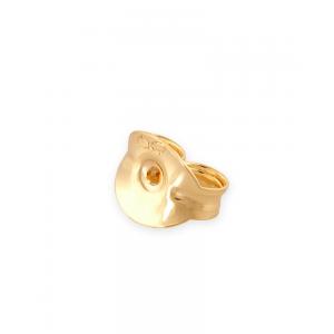 14K Yellow Gold Earring Clutch 4.3mm x 5.2mm