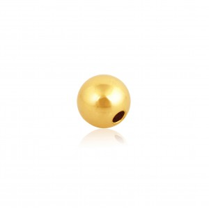 18K Yellow Gold Round 2-hole Bead 2.5mm