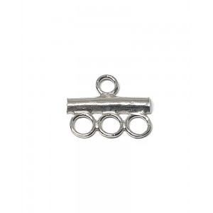 Sterling Silver 925 End Bar 3 Row Connector End Caps