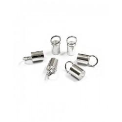 Sterling Silver 925 Plain End Cap I/D 3.0mm length 5.0mm