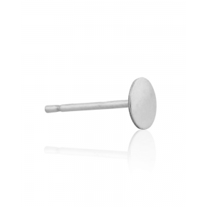 Sterling Silver 925 Ear Post with Disc 5mm Silver Posts