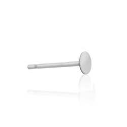 Sterling Silver 925 Ear Post with Disc 3mm