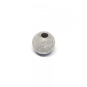 S925 2 HOLE LAZER CUT BEAD 12MM LZ-62113-LZ