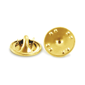 Brass Plated 5% 14K Gold Scatter Pin Clutch, 11.9mm