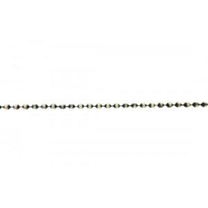 Sterling Silver 925 Oxidised Diamond cut Ball Chain, 1.8 mm Ball